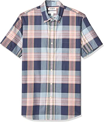 Marque Goodthreads Standard-fit Short-Sleeve Lightweight Madras Plaid Shirt Homme