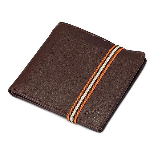 1642 Style 2039E - Portafolios de cuero para hombre con cierre elástico: Amazon.es: Zapatos y complementos