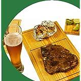Tabla para cortes de carne, Pino primera calidad curadas con aceites naturales 6 tablas de 30 cm x 19 cm. + Regalo. - Meat cu