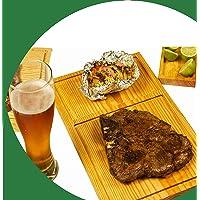 Tabla para cortes de carne, Pino primera calidad curadas con aceites naturales 6 tablas de 30 cm x 19 cm. + Regalo…