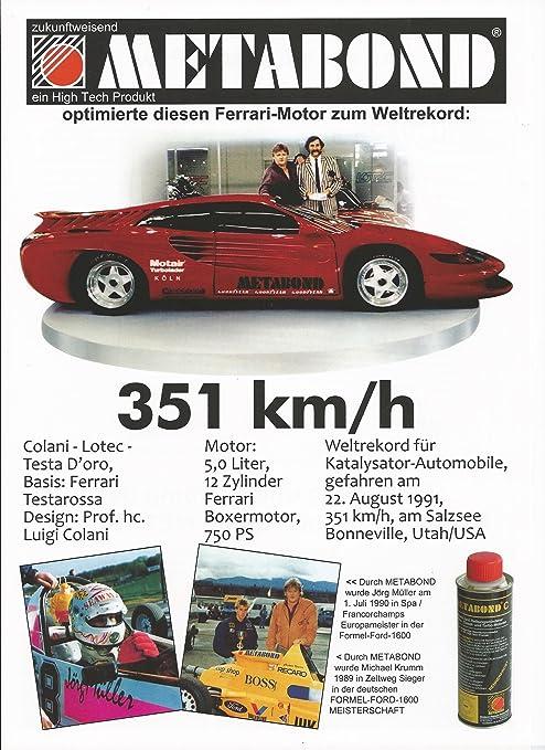 Meta Bond Eco con Nanotecnología Clase Superior de la additive© desde 1986 * * * * * muy bien.: Amazon.es: Coche y moto