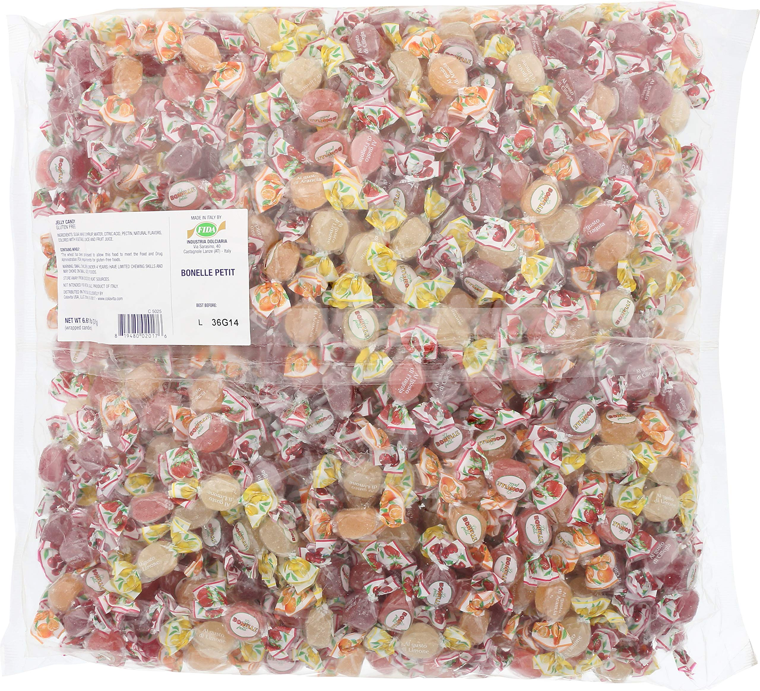 Fida Italian Jelly Candy Bulk Bag, Bonelle Fruit, 6.61 Pound by Fida