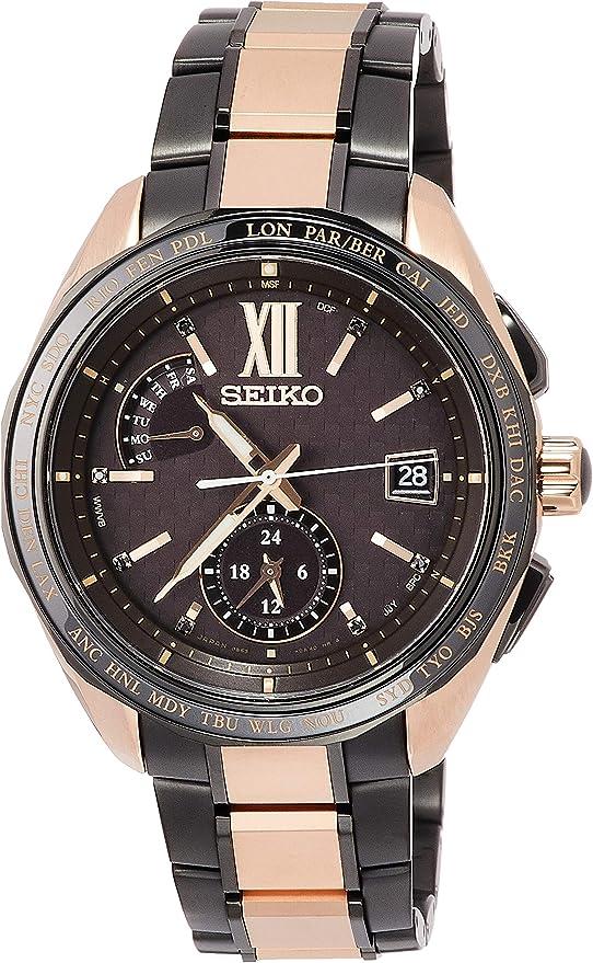 [セイコーウォッチ] 腕時計 ブライツ ソーラー電波 2019限定 限定800本 チタンモデル デュアルタイム ブラックスワロフスキー入りブラウン文字盤 サファイアガラス SAGA270 メンズ ゴールド