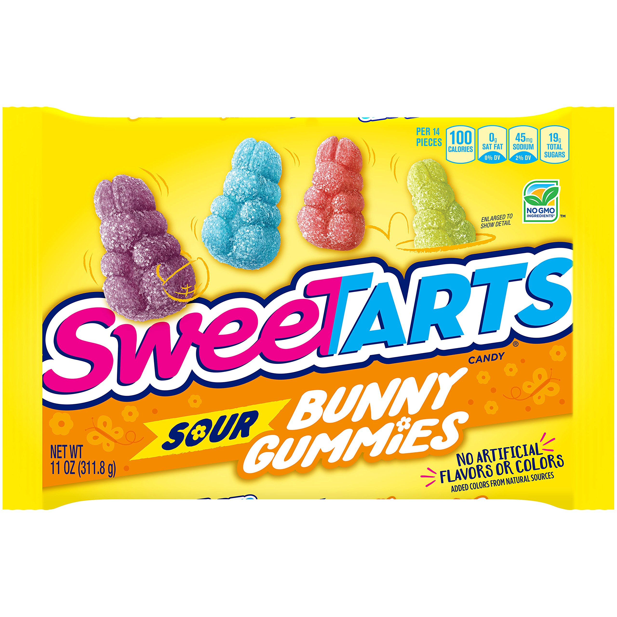 SweeTARTS Sour Bunny Gummy Candy, No Artificial Flavors or Colors, 11-Ounce Bag (Pack of 3)