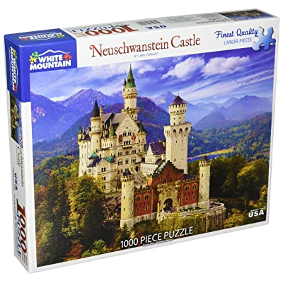 White Mountain Puzzles Neuschwanstein Castle - 1000 Piece Jigsaw Puzzle: Toys & Games