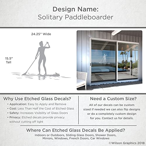 Amazon Solitary Paddleboarder Coastal Design Series Etched