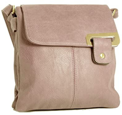 Big Handbag Shop Womens Medium Trendy Messenger Cross Body ...