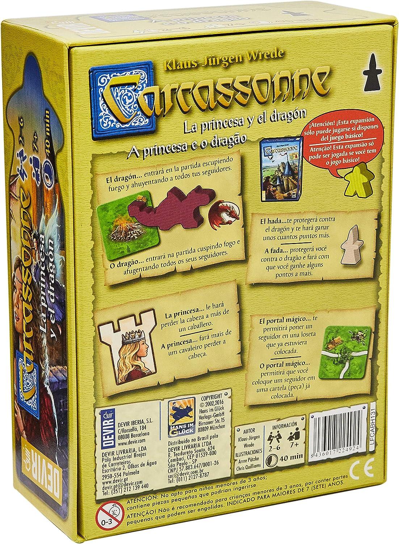 Devir - La princesa y el dragón, juego de mesa (BGCARPRI): Amazon.es: Juguetes y juegos