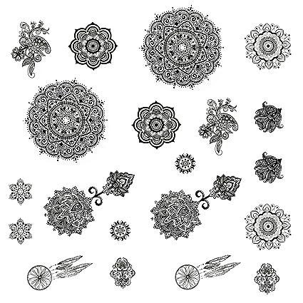 Oblique de Unique Tatuajes temporales Cuerpo sintética desmontable ...
