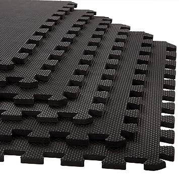 Foam Mat Floor Tiles, Interlocking EVA Foam Padding By Stalwart U2013 Soft  Flooring For Exercising