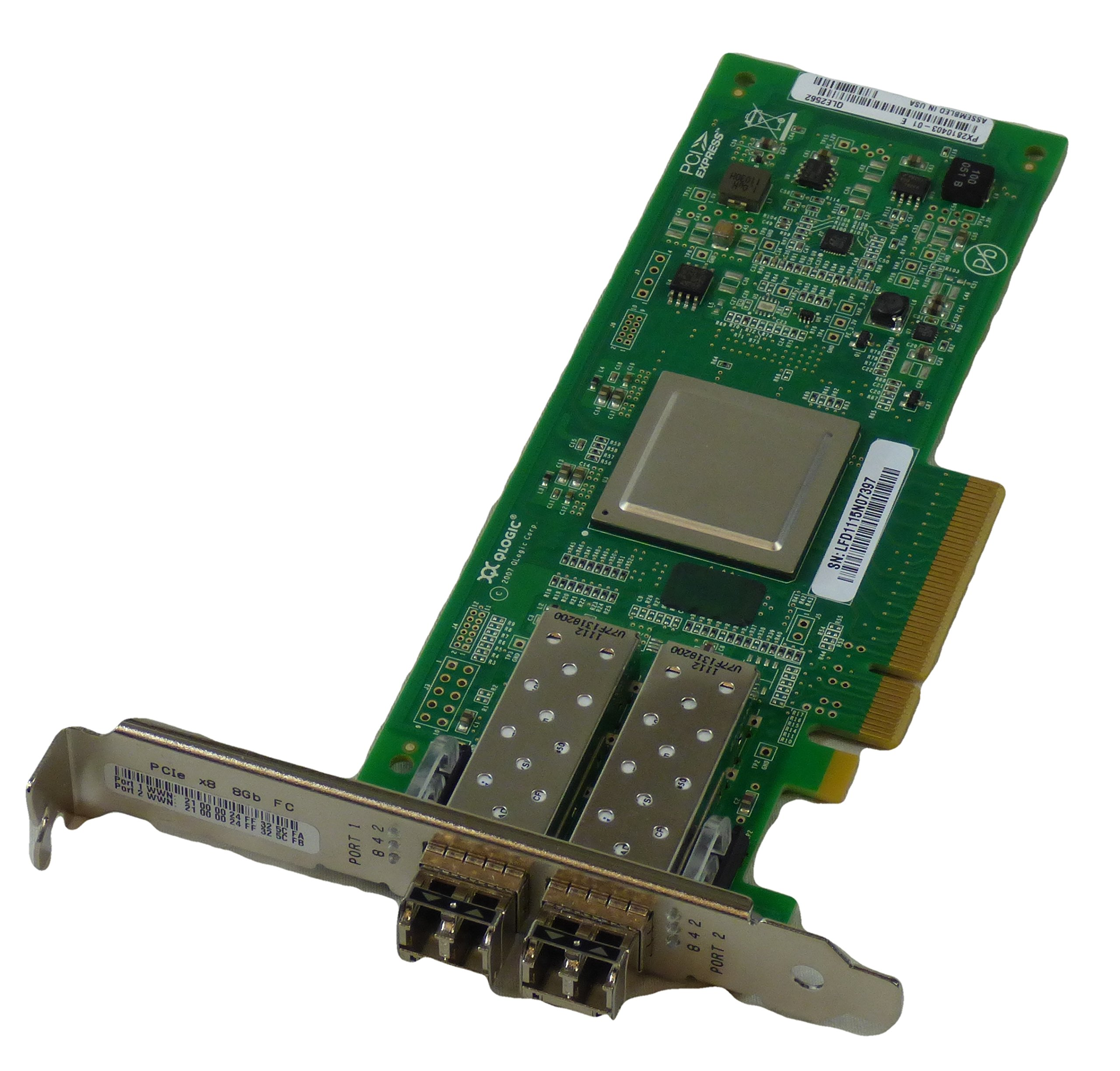 Qlogic QLE2562 8Gbp/s Dual Port Fibre Channel Host Bus Adapter PX2810403-01 by QLogic