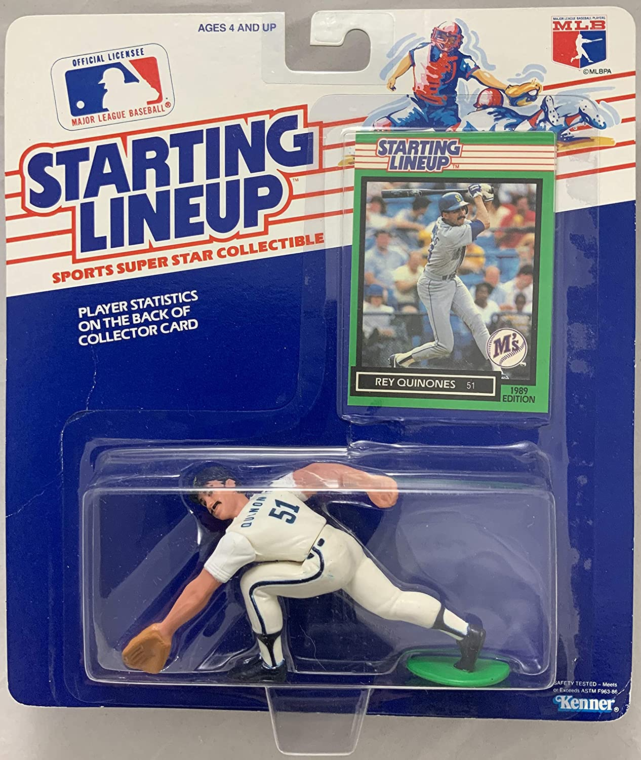1989 KENNER STARTING LINEUP MLB REY QUINONES SEATTLE MARINERS MOC