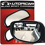 Utopicar Blind Spot Mirrors – Updated Design - Car Mirror for Blind Side - Door Mirrors for Large Image [Adjustable] (2…