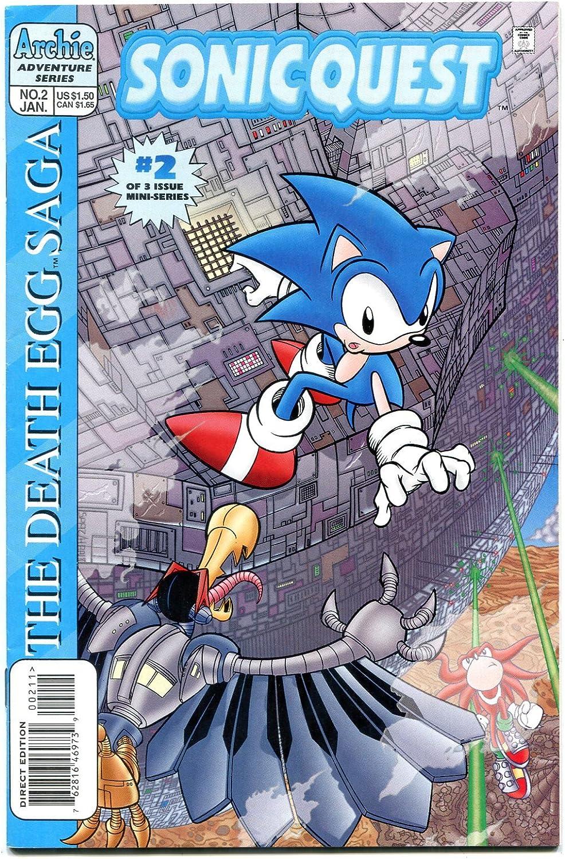 Amazon Com Sonic Quest The Death Egg Saga 2 1996 Sega Archie Comics Vf Nm Entertainment Collectibles