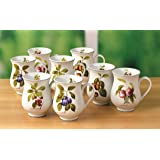 8 Piece Orchard Fruit Mug Set