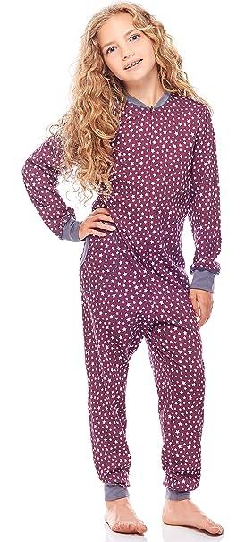 117e6c48b32 Merry Style Pijama Entero 1 Pieza Vestido de Casa 100% Algodón Niña  MS10-186  Amazon.es  Ropa y accesorios