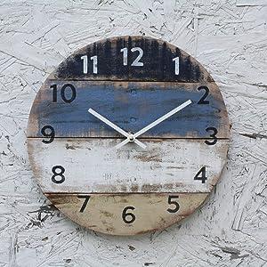 Flowershave357 Wall Clock Beach Decor Reclaimed Wood Wall Clock Blue Coastal Colors Pallet Wood Coastal Decor