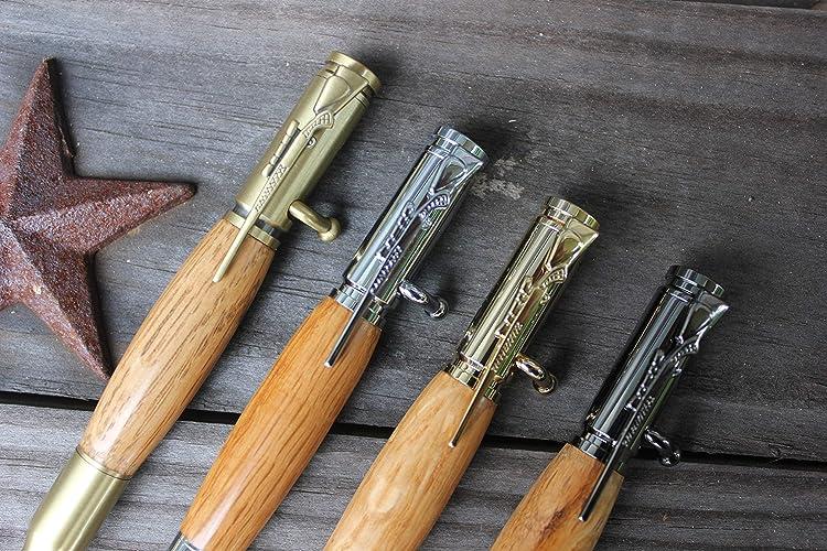 barrel wood bullet pen