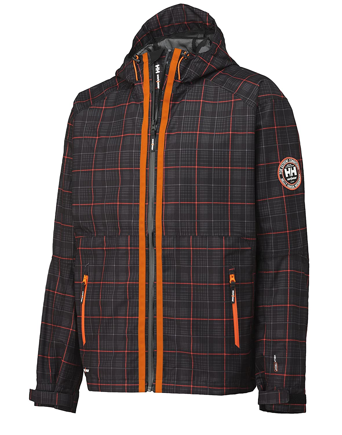 Helly Hansen Workwear Hochfunktionsjacke Tech Brussels Jacket W Check wind und wasserdicht, hoch atmungsaktiv M, orange, 34-071041-999-M