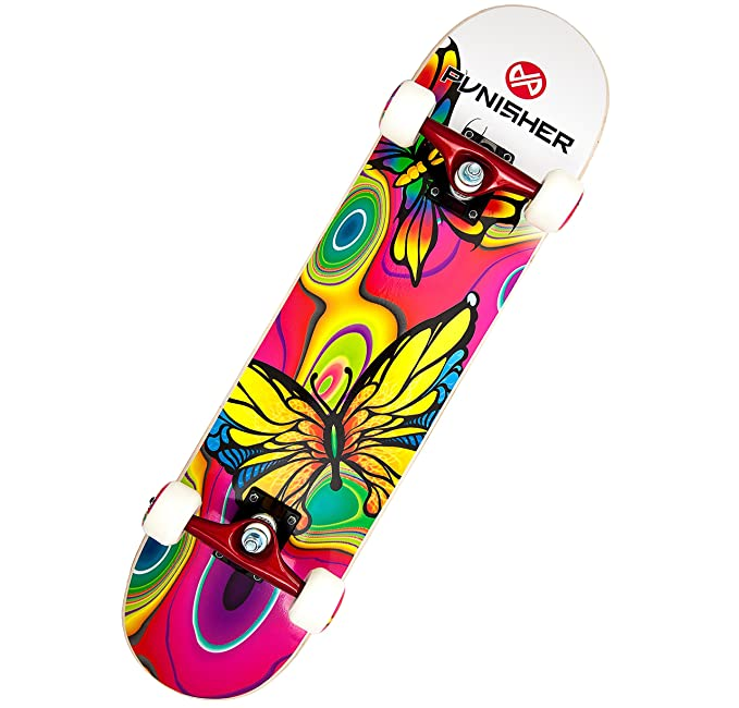7e306d88 Amazon.com : Punisher Skateboards Butterfly Jive Complete 31-Inch Skateboard  with Canadian Maple : Standard Skateboards : Sports & Outdoors
