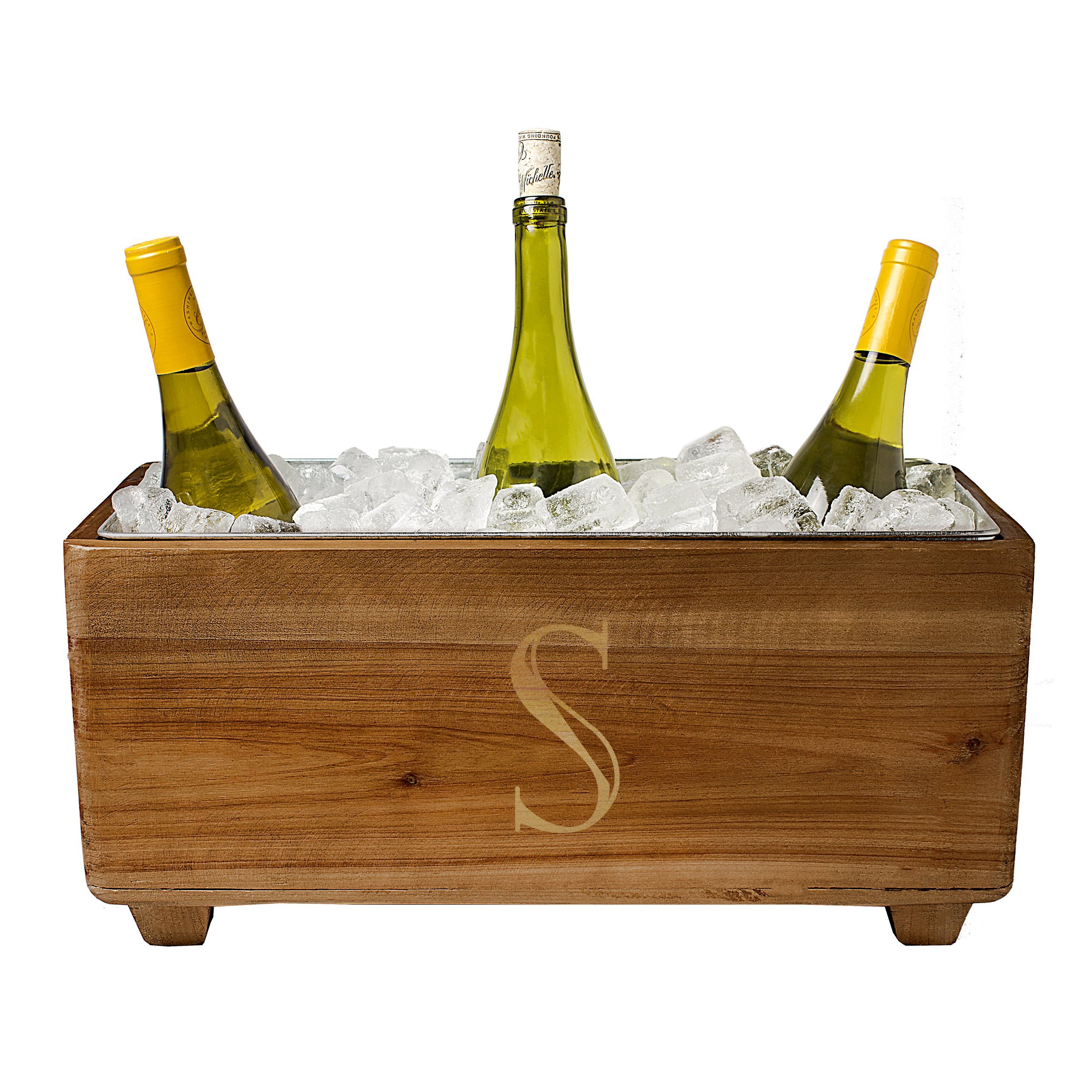 Cathy's Concepts Personalized Wooden Wine Trough, Letter S by Cathy's Concepts (Image #2)