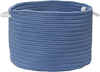 """product image for Colonial Mills Colorful Braided Toy Basket, 16""""x16""""x10"""", Sapphire"""