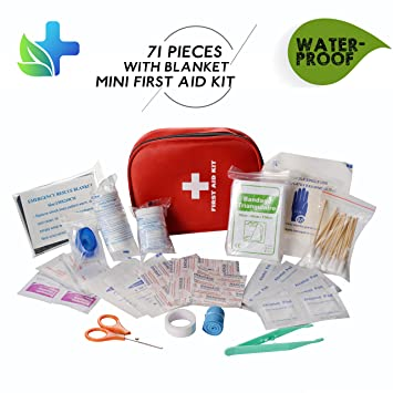 Cammate emergency first aid kit waterproof with blanket 71 pieces cammate emergency first aid kit waterproof with blanket 71 pieces medical supplies survival bag mini publicscrutiny Choice Image