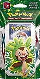 POKEMON - Deck de 60 cartes à jouer et à collectionner + 1 tapis de jeu pour deux joueurs + accessoires - Modèle aléatoire