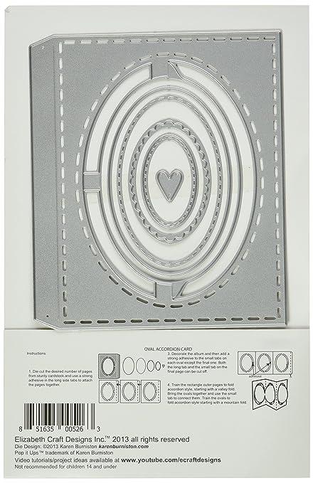 Elizabeth Craft Designs Oval Accordion Pop It Up Pivot Card Metal