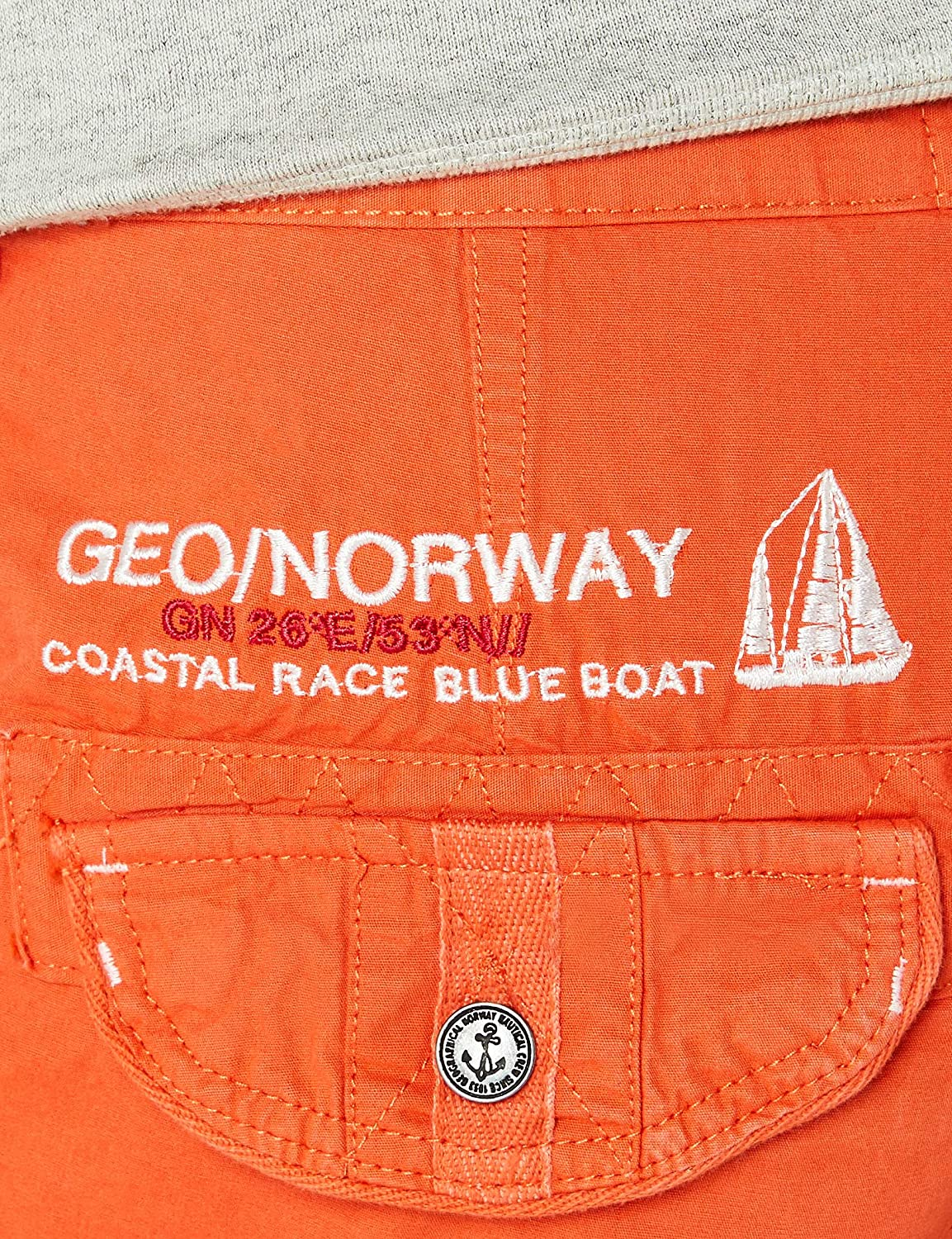 Geographical Norway Men's Poudre Assort B Sport Shorts Orange (Coral)