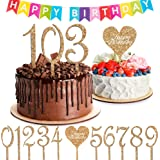 Happy Birthday Cake Topper Numbers - Set of 10 Large 0-9 Numbers for all Your Celebrations 16th, 18th, 21st, 30th, 40th, 50th, 60th - Bday Banner Sign