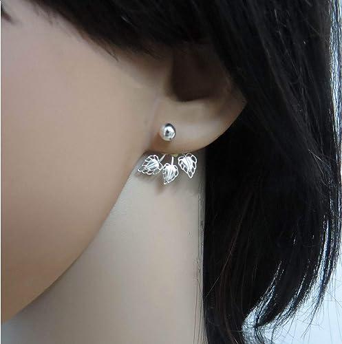 Ear Jacket Boho   silver
