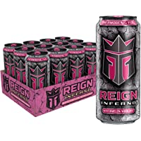 Reign Inferno Watermelon Warlord, Thermogenic Fuel, Fitness & Performance Drink, 16 Ounce (Pack Of 12)