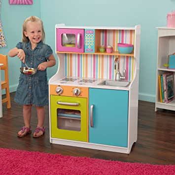 Delightful KidKraft Bright Toddler Kitchen