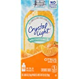 Crystal Light Drink Mix, Citrus With Caffeine, On The Go Packets, 10 Count