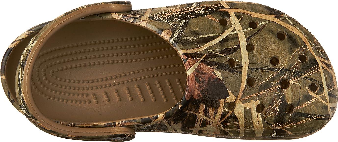 22fa3c2758efc Crocs Men's and Women's Classic Realtree Clog | Comfort Slip On Camo ...