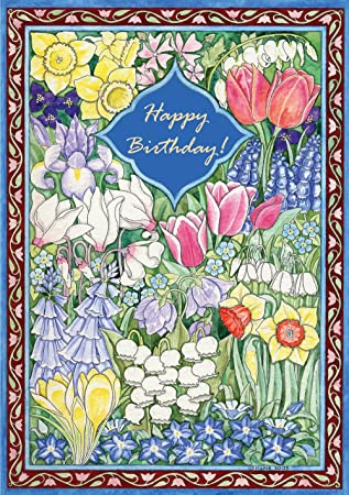 Jewish Happy Birthday Greeting Cards 4 3 X 6 Inches By Mickie Caspi Bdy555 Amazoncouk Office Products