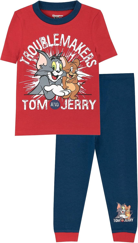 Tom y Jerry Tom & Jerry - Pijama para Niños Ajuste Ceñido