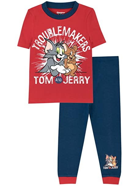 Tom & Jerry - Pijama para Niños - Tom y Jerry - Ajuste Ceñido - 2