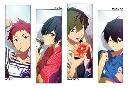 Athah Designs Anime Free! Ikuya Kirishima Haruka Nanase Asahi Shiina