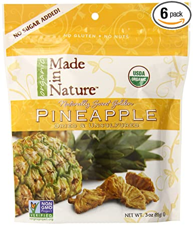 Fabricado en piña orgánica, seca y sin sulfuro, bolsas de 3 ...