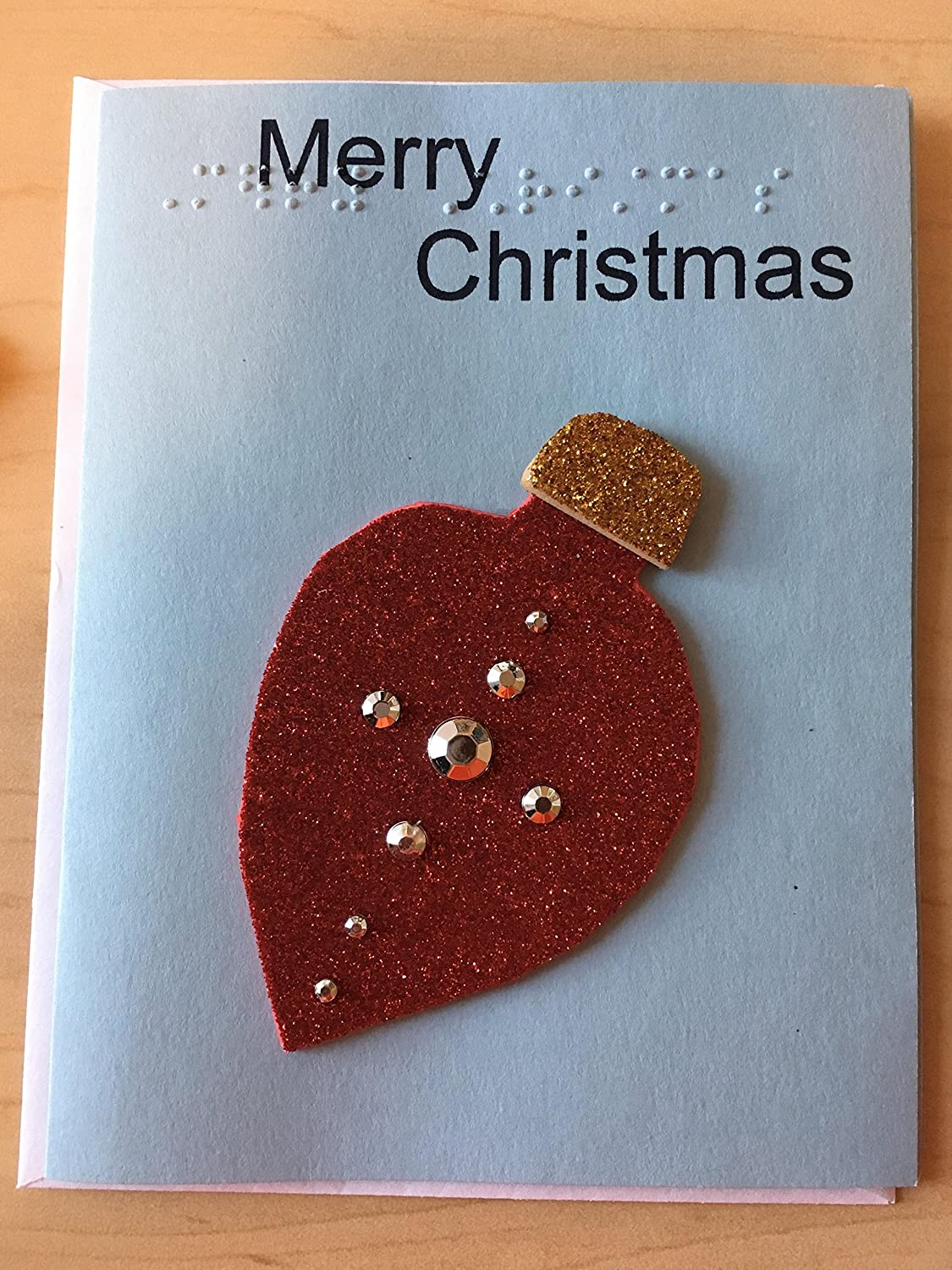 Amazon.com: Pre-Made Braille Christmas Cards - Tactile Braille Cards ...