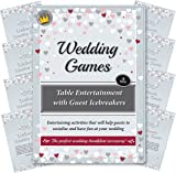Wedding Games - Table Entertainment and Icebreakers for Guests. Entertaining activities that will help guests to socialise and have fun at your reception or wedding breakfast (Up to 8 Tables)