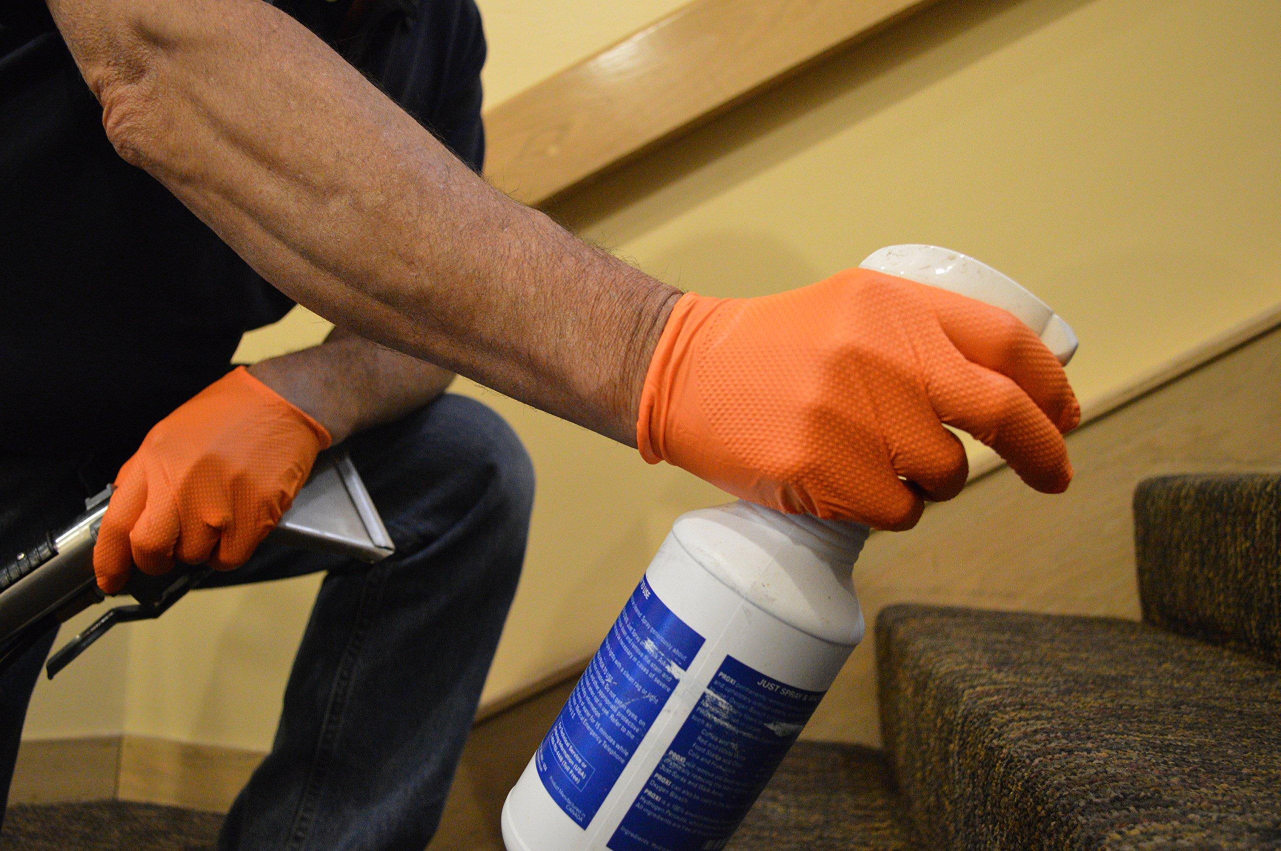 SupplyMaster - SMDTON8M - Diamond Texture Nitrile Gloves - Disposable, Powder Free, Industrial, 8 mil, Medium, Orange (Case of 200) by SupplyMaster (Image #9)