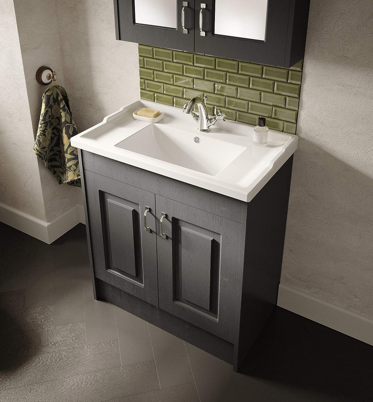 600mm Nuie Gladstone Oak Yor303 York I Traditional Bathroom Cabinet Basin Vanity Unit With Soft Close Doors Diy Tools Kitchen Bath Fixtures