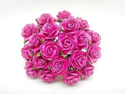 Amazon Com Tyga Thai Brand 25 Pcs Hot Pink Color Rose Mulberry