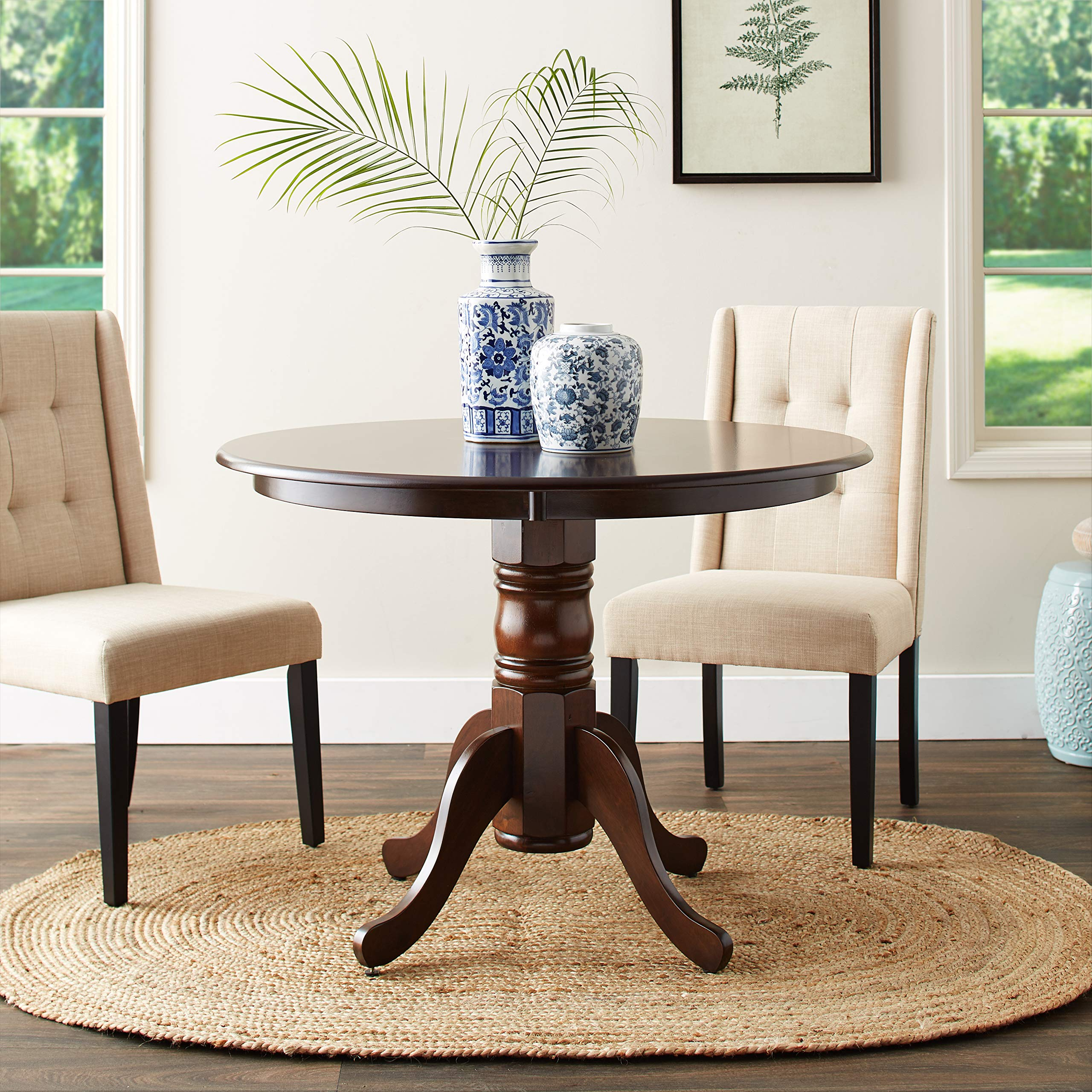 Brannan Round Single Pedestal Dining Table Cappuccino by Coaster Home Furnishings (Image #2)