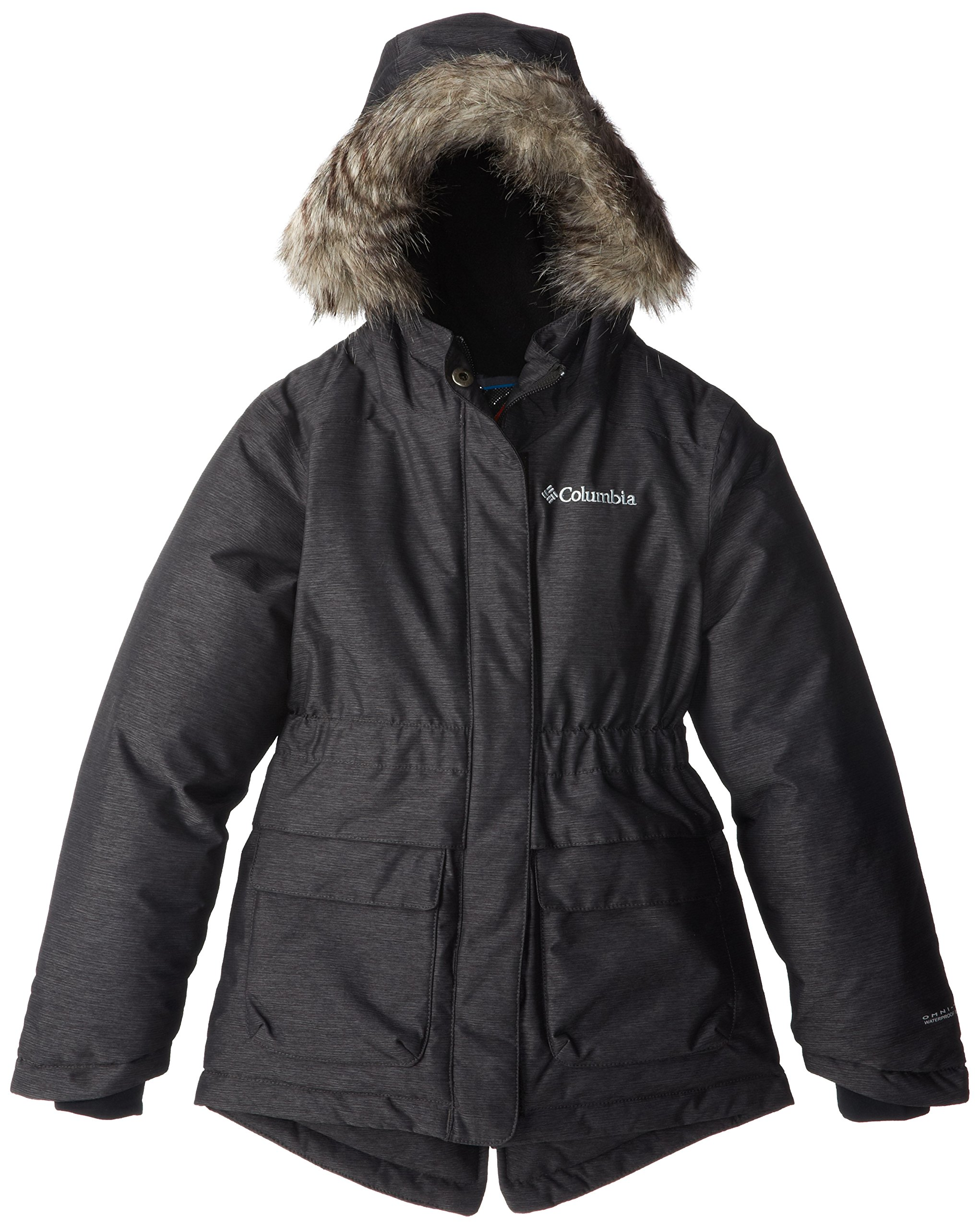 Columbia Youth Girl's Big Nordic Strider Jacket, Black, Medium by Columbia