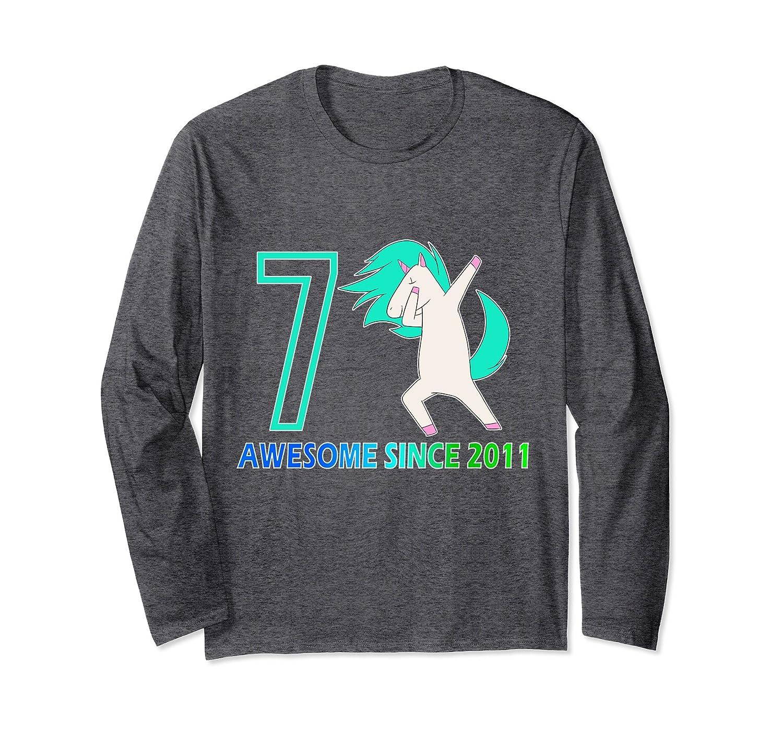 Unicorn Awesome Since 2011 Long Sleeve Unicorn Dab Shirt