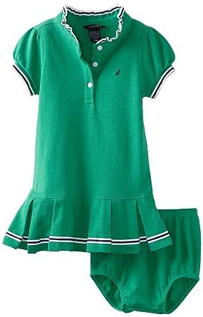Nautica Vestido Polo piqué para niñas - Verde - 18 Meses: Amazon ...